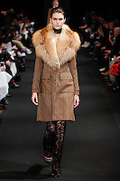 Vanessa Moody (WOMEN) walks the runway wearing Altuzarra Fall 2015 during Mercedes-Benz Fashion Week in New York on February 14, 2015