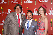 Emirates Melbourne Cup Day,  Melbourne,Australia..Matt Preston with master chef winners . An instant sale option is available where a price can be agreed on image useage size. Please contact me if this option is preferred.