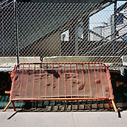 USA - New York - 05-05-2005<br /> World Trade centre , groud zero , de plek waar de Twin towers stonden.<br /> De grote bouwput , is nu bouwrijp voor een nieuw gebouwen complex.<br /> <br /> <br /> Foto: Sake Elzinga