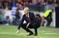 Arsenal manager Arsene Wenger on the touchline during the UEFA Europa League, Semi Final, Second Leg at Wanda Metropolitano, Madrid. PRESS ASSOCIATION Photo. Picture date: Thursday May 3, 2018. See PA story SOCCER Atletico. Photo credit should read: Adam Davy/PA Wire
