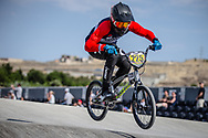 #225 during practice at the 2018 UCI BMX World Championships in Baku, Azerbaijan.
