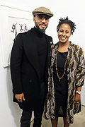 New York, NY-Jan. 11: (L-R) Producer/Recording Artist/Visual Artist Swizz Beatz and Chef Leslie Parks attends the Gordon Parks: I AM YOU Opening Reception presented by the Gordon Parks Foundation  held at the Jack Shanmain Gallery on January 11, 2018 in New York City.  (Photo by Terrence Jennings/terrencejennings.com)