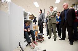 ERPE MERE, BELGIUM - NOV-5-2008 - Dexia employees tour the Diebold Cable Print manufacturing facility in Erpe Mere, Belgium, Wednesday, Nov. 5, 2008. (Photo © Jock Fistick)