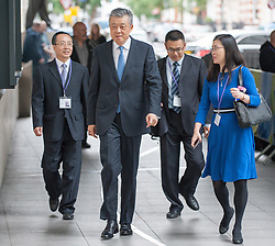 Chinese ambassador to the UK Liu Xiaoming arrives at the BBC for the Andrew Marr show.<br /> <br /> Richard Hancox | EEm 07072019