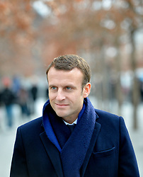 Emmanuel Macron ex-economy French minister who annonced presidential run visits the 9/11 Memorial, in New York city, NY December 6, 2016. Photo by Olivier Douliery/ABACA