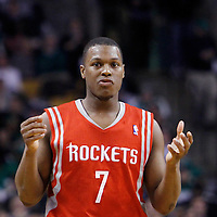 06 March 2012: Houston Rockets point guard Kyle Lowry (7) looks dejected during the Boston Celtics 97-92 (OT) victory over the Houston Rockets at the TD Garden, Boston, Massachusetts, USA.