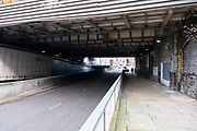 As the third national coronavirus lockdown continues, some people are still out and about but the streets remain eerily empty, like here on the A38 on 18th January 2021 in Birmingham, United Kingdom. Following the recent surge in cases including the new variant of Covid-19, this nationwide lockdown, which is an effective Tier Five, advises all citizens to follow the message to stay at home, protect the NHS and save lives.