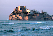 SPAIN, COSTA DEL AZAHAR Peniscola; peninsular walled town