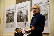 Ken Loach speaking in public. Coalition of resistance, a left wing coalition formed of various groups such as Socialist worker, Green Party and War on Want, Kings Cross 2010. Speakers included Tony Benn, Ken Loach and others.