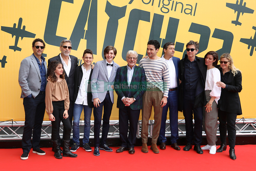 """Rome, photocall TV series """"Catch-22"""". In the picture: the cast"""