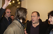 James Mullord , Pete Woolf and Danny Clifford, Babyshambles Exhibition , Photographs by Danny Clifford <br />The Old Sony Ericsson Proud Galleries, Greenland St. Camden, London  5 December  2005. ONE TIME USE ONLY - DO NOT ARCHIVE  © Copyright Photograph by Dafydd Jones 66 Stockwell Park Rd. London SW9 0DA Tel 020 7733 0108 www.dafjones.com