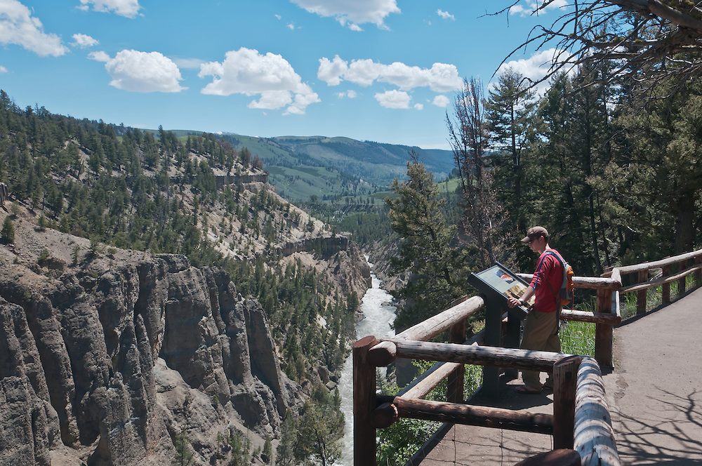 Grand Canyon of the Yellowstone, in Yellowstone National Park, Wyoming.  Photo by William Byrne Drumm.
