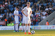 Thomas Doyle of England (8) set to take the penalty during the UEFA European Under 17 Championship 2018 match between England and Israel at Proact Stadium, Whittington Moor, United Kingdom on 4 May 2018. Picture by Mick Haynes.