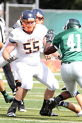 28 September 2013:  Brandon Parcell during an NCAA division 3 football game between the Hope College Flying Dutchmen and the Illinois Wesleyan Titans in Tucci Stadium on Wilder Field, Bloomington IL