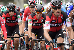 March 18, 2017 - San Remo, Italie - SANREMO, ITALY - MARCH 18 : VAN AVERMAET Greg (BEL) Rider of BMC Racing Team in between teammates during the UCI WorldTour 108th Milan - Sanremo cycling race with start in Milan and finish at the Via Roma in Sanremo on March 18, 2017 in Sanremo, Italy, 18/03/2017  (Credit Image: © Panoramic via ZUMA Press)