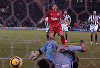 Milan Baros (Liverpool)) watches his penalty saved by West Brom 'keeper Russell Hoult. West Bromwich Albion v Liverpool, FA Premiership, 26/12/2004. Credit: Back Page Images / Matthew Impey