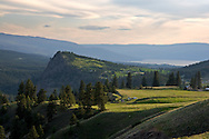 Layer Cake Mountain and Okanagan Lake in Kelowna, British Columbia, Canada
