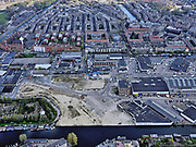 Nederland, Noord-Holland, Amsterdam; 16-04-2021; Amsterdam-West, de Centrale Markt (Amsterdam Foodcentre), Jan van Galenstraat. Staatsliedenbuurt.<br /> Amsterdam-West, the Central Market (Amsterdam Food centre), Jan van Galenstraat. Staatsliedenbuurt.<br /> <br /> luchtfoto (toeslag op standard tarieven);<br /> aerial photo (additional fee required)<br /> copyright © 2021 foto/photo Siebe Swart