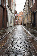 12 January 2017: Hull Museums Quarter. Cobble streets off High Street.<br /> Picture: Sean Spencer/Hull News & Pictures Ltd<br /> 01482 210267/07976 433960<br /> www.hullnews.co.uk         sean@hullnews.co.uk