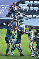 Rugby Union - 2020 / 2021 European Rugby Challenge Cup - Round of 16 - Ospreys vs Newcastle Falcons - Liberty Stadium<br /> <br />  Alun Wyn Jones Ospreys  leaps to catch the ball at a lineout<br /> <br /> COLORSPORT/WINSTON BYNORTH