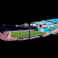 Obstructed view of the field at Fenway Park, home of the Boston Red Sox