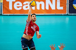 Ivan Raic of Croatia in action during the CEV Eurovolley 2021 Qualifiers between Sweden and Croatia at Topsporthall Omnisport on May 15, 2021 in Apeldoorn, Netherlands