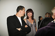 Anthony Gormley and Janet Street-Porter, Work by Mexican artist, Gabriel Orozco. Gallery opening & private view at new White Cube space, 25-26 Mason's Yard, London and afterwards at Claridges. London. 27 September 2006. <br /> -DO NOT ARCHIVE-© Copyright Photograph by Dafydd Jones 66 Stockwell Park Rd. London SW9 0DA Tel 020 7733 0108 www.dafjones.com