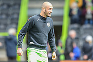 Forest Green Rovers Farrend Rawson(6) warming up during the EFL Sky Bet League 2 match between Forest Green Rovers and Exeter City at the New Lawn, Forest Green, United Kingdom on 4 May 2019.