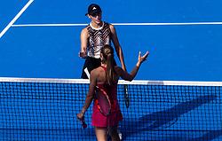 PORTOROZ, SLOVENIA - SEPTEMBER 17:  Kaja Juvan of Slovenian and Aleksandra Krunic of Serbia after playing in 3rd Round of the WTA 250 Zavarovalnica Sava Portoroz at SRC Marina, on September 17, 2021 in Portoroz / Portorose, Slovenia. Photo by Vid Ponikvar / Sportida