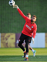 ARLAMOW, POLAND - MAY 30: Bartosz Bialkowski during a training session of the Polish national team at Arlamow Hotel during the second phase of preparation for the 2018 FIFA World Cup Russia on May 30, 2018 in Arlamow, Poland. MB Media