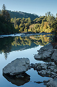Last light on the South Fork American River near Lotus, California