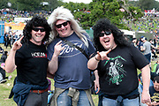 NO FEE PICTURES                                                                                                                                                8/6/19 James Satchwell, Paul Dolan and Larry Mannion, Castlerea at Metallica's sold out concert, with 75,000 fans at Slane Castle in Co Meath. Picture: Arthur Carron