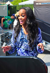 'Bachelorette' Rachel Lindsay at Universal City Walk to tape Extra on July 17, 2017. 17 Jul 2017 Pictured: 'Bachelorette' Rachel Lindsay at Universal City Walk to tape Extra. Photo credit: MEGA TheMegaAgency.com +1 888 505 6342