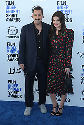 February 8, 2020, Los Angeles, California, United States: 2020 Film Independent Spirit Awards held at Santa Monica Pier..Featuring: Adam Sandler and Idina Menzel.Where: Los Angeles, California, United States.When: 08 Feb 2020.Credit: Faye's VisionCover Images (Credit Image: © Cover Images via ZUMA Press)
