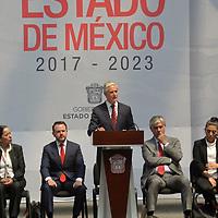 Toluca, México.- (Marzo 15, 2018).- Alfredo del Mazo Maza, Gobernador del Estado de México presento el Plan de Desarrollo del Estado de México 2017-2023. Agencia MVT / Crisanta Espinosa.