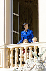 November 19, 2017 - Monte Carlo, MONACO - 19-11-2017 Monaco Princess Charlene of Monaco with Prince Jacques of Monaco and Princess Gabriella of during the Monaco National Day Celebrations in Monaco...© PPE/NieboerCredit: PPE/face to face.- No rights for the Netherlands  (Credit Image: © face to face via ZUMA Press)