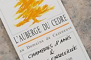 L'Auberge du Cedre au Domaine de Cazeneuve, Chambres d'Amis. The hotel guest house. Domaine Cazeneuve in Lauret. Pic St Loup. Languedoc. France. Europe.