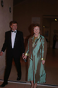 Ian Warrell and Kathy Lochnan Turner Whistler Monet, exhibtion opening dinner, Tate Britain. 7 February 2005, ONE TIME USE ONLY - DO NOT ARCHIVE  © Copyright Photograph by Dafydd Jones 66 Stockwell Park Rd. London SW9 0DA Tel 020 7733 0108 www.dafjones.com