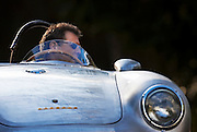Image of a 1958 silver Porsche 550A Spyder, Washington state, Pacific Northwest, model and property released by Randy Wells