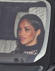 Meghan Markle arriving for the Queen's Christmas lunch at Buckingham Palace, London.