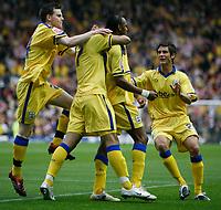 Photo: Steve Bond.<br />Derby County v Southampton. Coca Cola Championship. Play Off Semi Final, 2nd Leg. 15/05/2007. John Viafara celebrates his goal