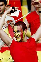 GEPA-2206086810 - WIEN,AUSTRIA,22.JUN.08 - FUSSBALL - UEFA Europameisterschaft, EURO 2008, Spanien vs Italien, ESP vs ITA, Viertelfinale. Bild zeigt einen Spanien-Fan. <br />Foto: GEPA pictures/ Felix Roittner