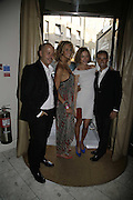 Francisco Costa, Elle MacPherson, Natalia Vodianova and Italo Zucchelli. . Natalia Vodianova and Elle Macpherson host a dinner in honor of Francisco Costa (creative Director for women) and Italo Zucchelli (creative director for men)  of Calvin Klein. Locanda Locatelli, 8 Seymour St. London W1. ONE TIME USE ONLY - DO NOT ARCHIVE  © Copyright Photograph by Dafydd Jones 66 Stockwell Park Rd. London SW9 0DA Tel 020 7733 0108 www.dafjones.com