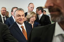 April 26, 2017 - Brussels, Bxl, Belgium - Hungarian Prime Minister Viktor Orban arrives for his speech in front of European Parliament in Brussels, Belgium on 26.04.2017 Parliament will discuss situation in Hungary by Wiktor Dabkowski (Credit Image: © Wiktor Dabkowski via ZUMA Wire)