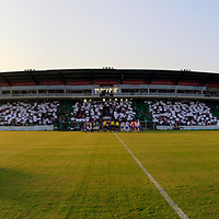 28.08.2019, Stadion Lohmühle, Luebeck, GER,  VFB Lübeck/Luebeck vs VfL Wolfsburg IIi<br /> <br /> DFB REGULATIONS PROHIBIT ANY USE OF PHOTOGRAPHS AS IMAGE SEQUENCES AND/OR QUASI-VIDEO.<br /> <br /> im Bild / picture shows<br /> Panorama Lohmühle Lübeck/Lohmuehle Luebeck 100 Jahre VfB Luebeck<br /> <br /> Foto © nordphoto / Tauchnitz