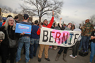 Supporters of Democratic presidential candidate Bernie Sanders, hold signs at a rally in the South Bronx. New York will hold it's presidential primary on April 19th.
