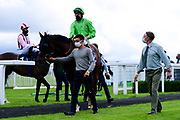 Medieval ridden by Luke Morris and trained by Paul & Oliver Cole ridden in the Kentucky Derby On Sky Sports Racing Handicap - Mandatory by-line: Ryan Hiscott/JMP - 24/08/20 - HORSE RACING - Bath Racecourse - Bath, England - Bath Races