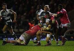 Leonardo Ghiraldini of Leicester Tigers (C) in action - Mandatory byline: Jack Phillips / JMP - 07966386802 - 13/11/15 - RUGBY - Welford Road, Leicester, Leicestershire - Leicester Tigers v Stade Francais - European Rugby Champions Cup Pool 4