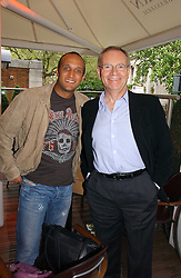 Left to right, England cricketer MARK BUTCHER and LORD ARCHER at a party to celebrate the publication on 'Confessions of a Dedicated Englishman' by David English held at the Lord's Tavern, St.John's Wood Road, London on 8th May 2006.<br /><br />NON EXCLUSIVE - WORLD RIGHTS