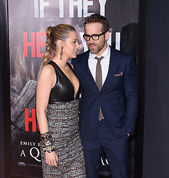 """""""A Quiet Place"""" New York Premiere AMC Lincoln Square, NY. 02 Apr 2018 Pictured: Blake Lively, Ryan Reynolds. Photo credit: RCF / MEGA TheMegaAgency.com +1 888 505 6342"""